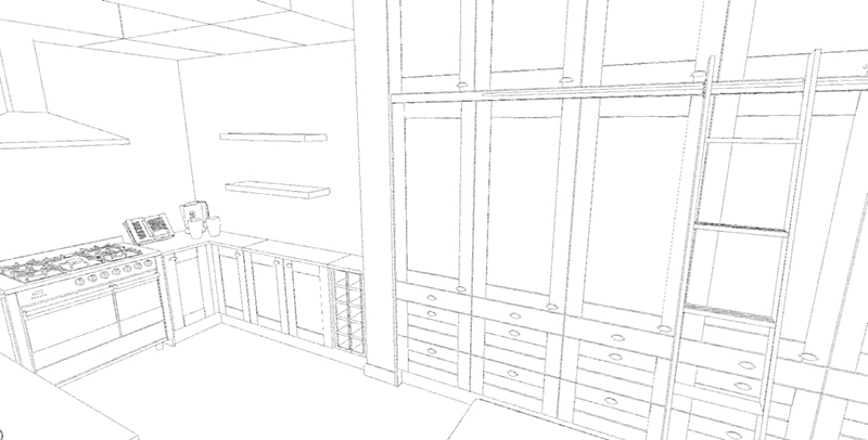Kitchen Line Drawings A Priceless Design Tool
