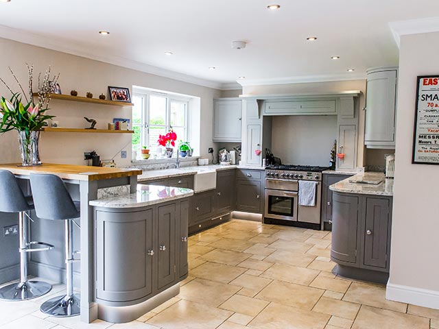 Shaker kitchen and utility room